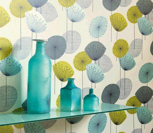 Dandelion Clocks Wallpaper :: Accent Wall.