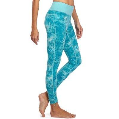 Fitness_Fitnesskleding Yoga, Dans, Turnen - Legging Yoga+ dames blauw/gr. DOMYOS - Pilates en Yoga
