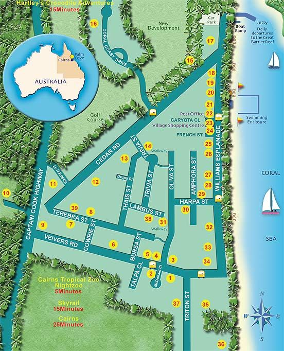 Palm Cove Map http://www.executiveretreats.com.au/
