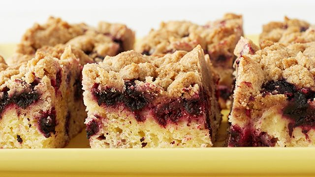 Make Martha Stewart's Black-Raspberry Crumb Cake recipe from the Classic New England episode of Martha Bakes airing on PBS Food.
