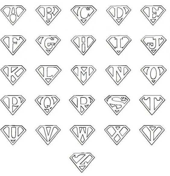 Printable Superman Logo Letter:
