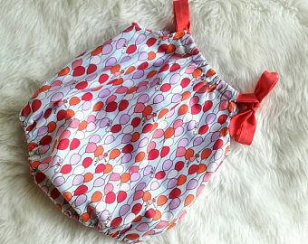 Ragazza pagliaccetto - bambino bolla pagliaccetto - Baby Girl Romper - cuscino caso pagliaccetto - palloncini pagliaccetto - Baby prendisole - foto Prop - corallo - rosa - blu