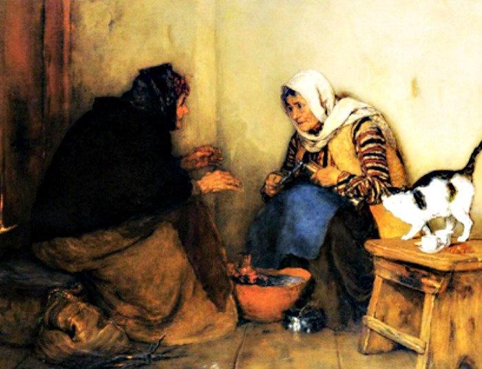 """""""Fofoca"""" por Nikolaos Gyzis (1842-1901)"""