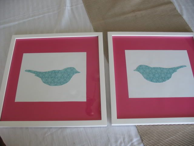 """Amanda pinned this as """"we could make something like this"""", maybe we could incorporate some birds into the decor. Her nursery colors are yellow, grey, turquoise and raspberry pink"""