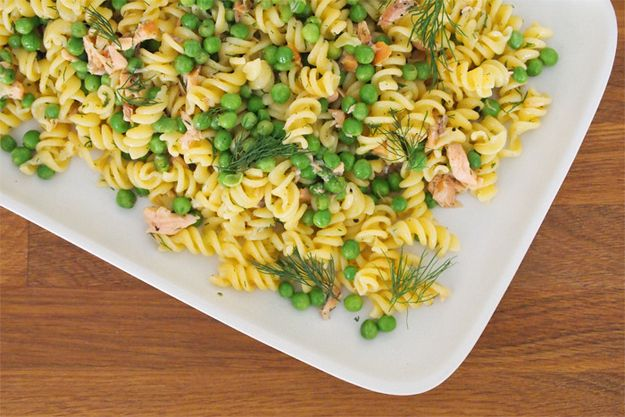 Salmon Pasta Salad with Mustard and Dill Dressing