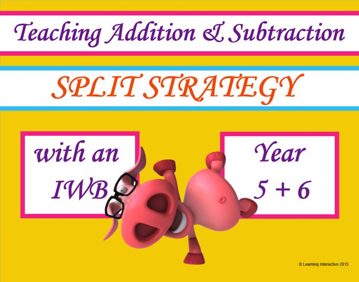 This interactive Mathematics resource for Year 5 & 6 contains a 13 page SMART Notebook with a range of modelled, guided and independent activities designed to help students to practise the skill of using the split strategy when solving addition and subtraction questions. This Notebook also provides opportunity to work with problem solving.  A worksheet, game card and teacher notes are also included to help you get the best use of the resources.  $12.95.