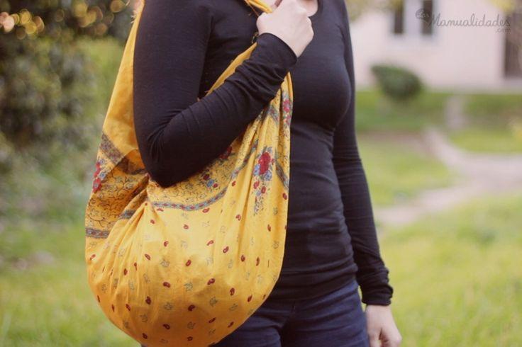 Cómo hacer un bolso de tela sin costuras