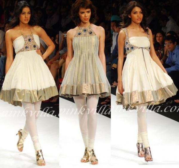 Short and trendy anarkali by Payal Singhal