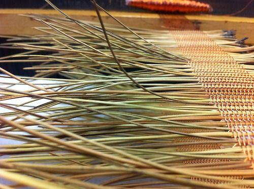 lefoxjournal: Pine needle weaving has commenced.