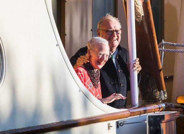 Newmyroyals: Prince Nikolai's 18th Birthday, Dannebrog Yacht, August 28, 2017-Queen Margrethe and Prince Henrik