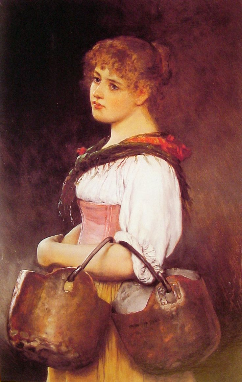 The Milkmaid, 1880  Eugene de Blaas