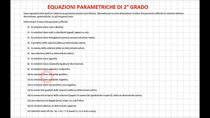 Equazioni Parametriche 1