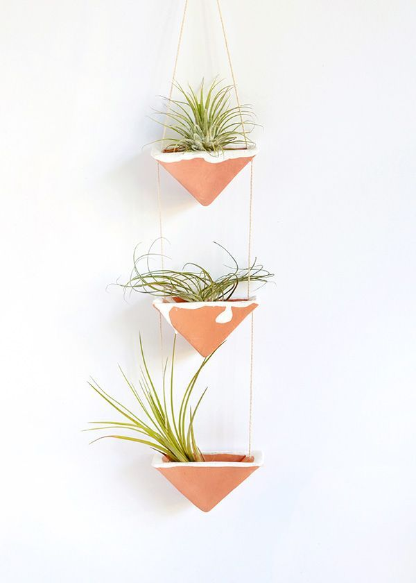 DIY clay hanging air plant holders | by Make and Tell on Squirrelly Minds