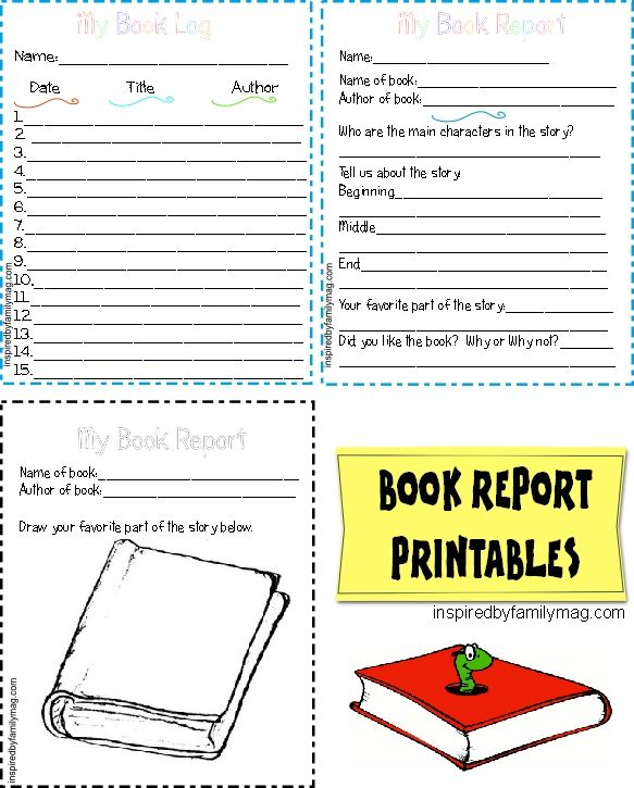 Printable Book Report Forms {Elementary