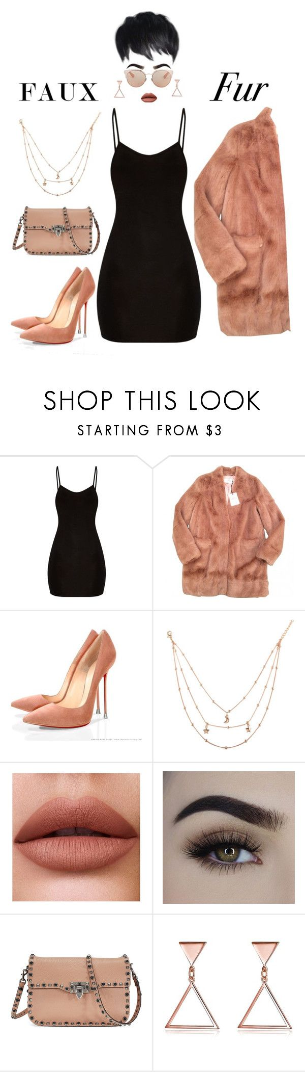 """""""Wow Factor: Faux Fur"""" by vale14m on Polyvore featuring moda, Urbancode, Valentino, Christian Dior e fauxfur"""