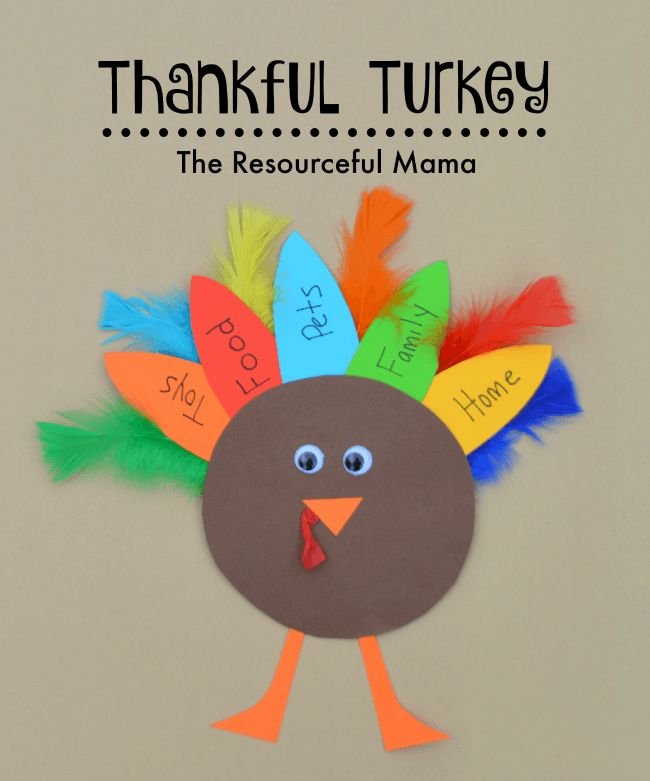 Thanksgiving Thankful Turkey Kid Craft-great way to get the kids talking about what they are thankful for this year.