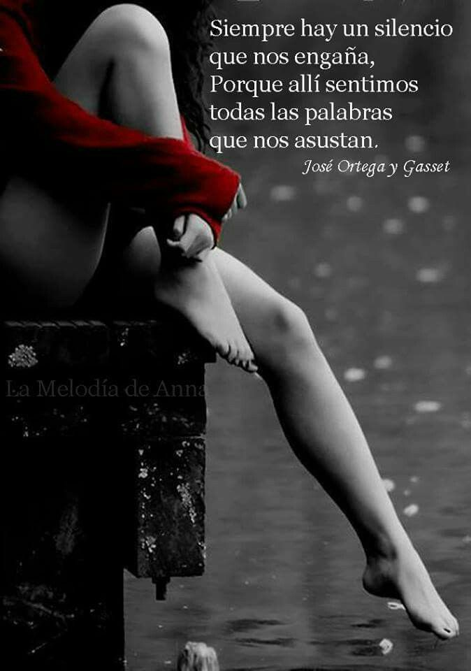 Siempre hay un silencio que nos engaña, porque allí sentimos todas las palabras que nos asustan. Jose Ortega y Gasset.