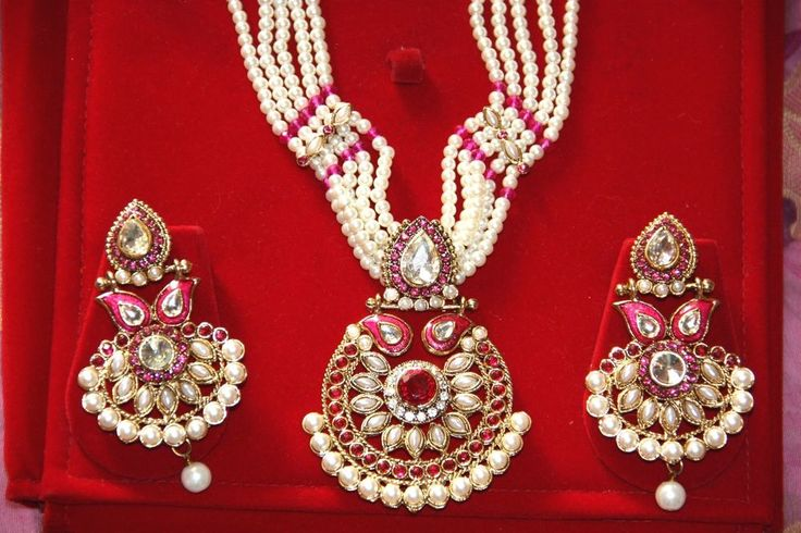 Traditional Indian Wedding Bollywood Statement Necklace Ramleela Earrings Sets