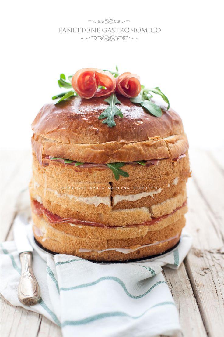 il panettone gastronomico è un panettone farcito salato perfetto per un buffet e per un aperitivo tra amici. E' molto scenografico e di sicuro effetto.