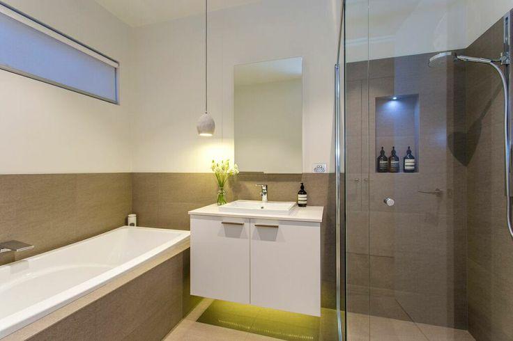 Simple and stylish bathroom.