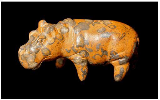Middle Kingdom Jasper Hippopotamus - SK.024 Origin: Egypt Circa: 2100 BC to 1800 BC