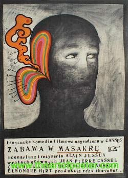 designer: Starowieyski Franciszek poster title: Zabawa w masakre  year of poster: 1968  poster nationality: Polish   The Art of Poster - The largest collection of Polish posters
