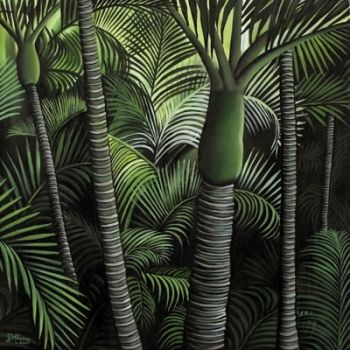 Nikau Forest Canvas Print by Diana Adams