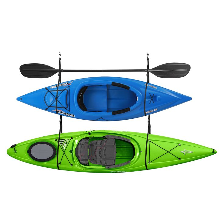 The RAD Sportz Double Kayak Strap is a simple and effective method to store your kayak up off the floor and out of the way of vehicles and foot traffic. The RAD Sportz Single Kayak Straps are adjustab