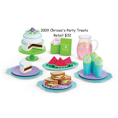 American Girl Chrissa Party Treats Cups
