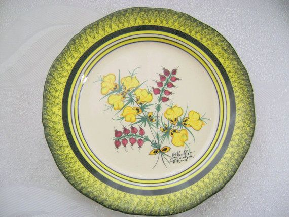 French Faience Decorative Plate Henriot Quimper Pottery France