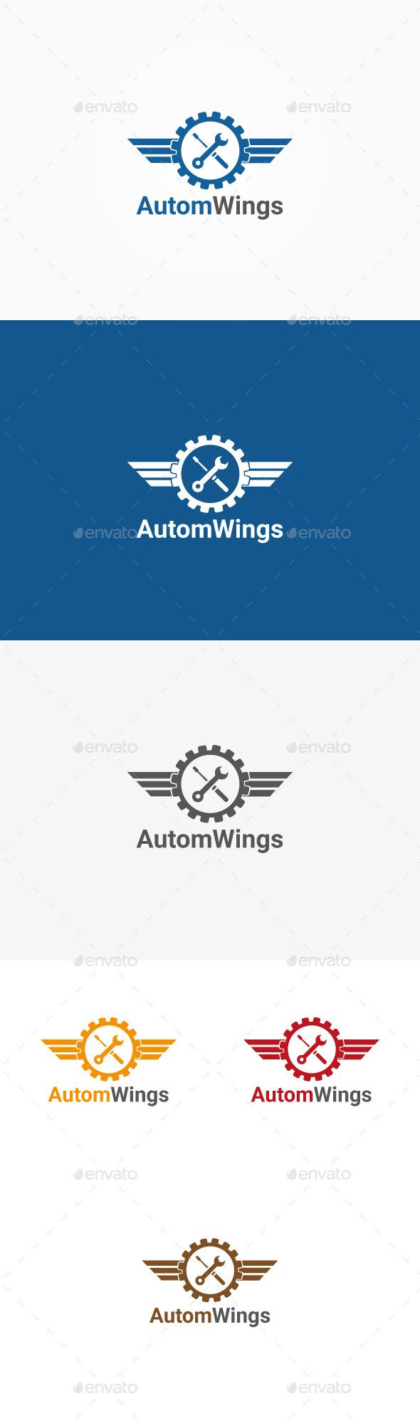 Autom Wings Logo Template    100 Vector  CMYK Colors  Eps,AI  Font in help file.    Rate if you Like it *