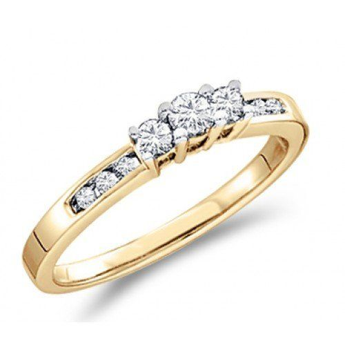 K Solid White Gold Filled Brilliant Cut Anniversary Engagement Ring