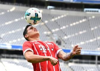 Así fue la presentación de James en el Bayern de Ancelotti