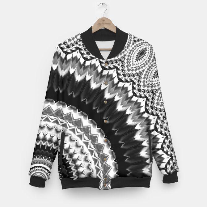 Black white mandala jacket