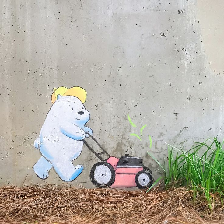 Ice Bear's lawn mowing service is off to a good... | Cartoon Network