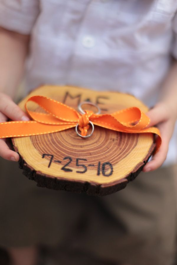 "The perfect ring bearer ""pillow"" (unless its thrown at the wedding guests- like many have done before). #ring bearer #eco-friendly"