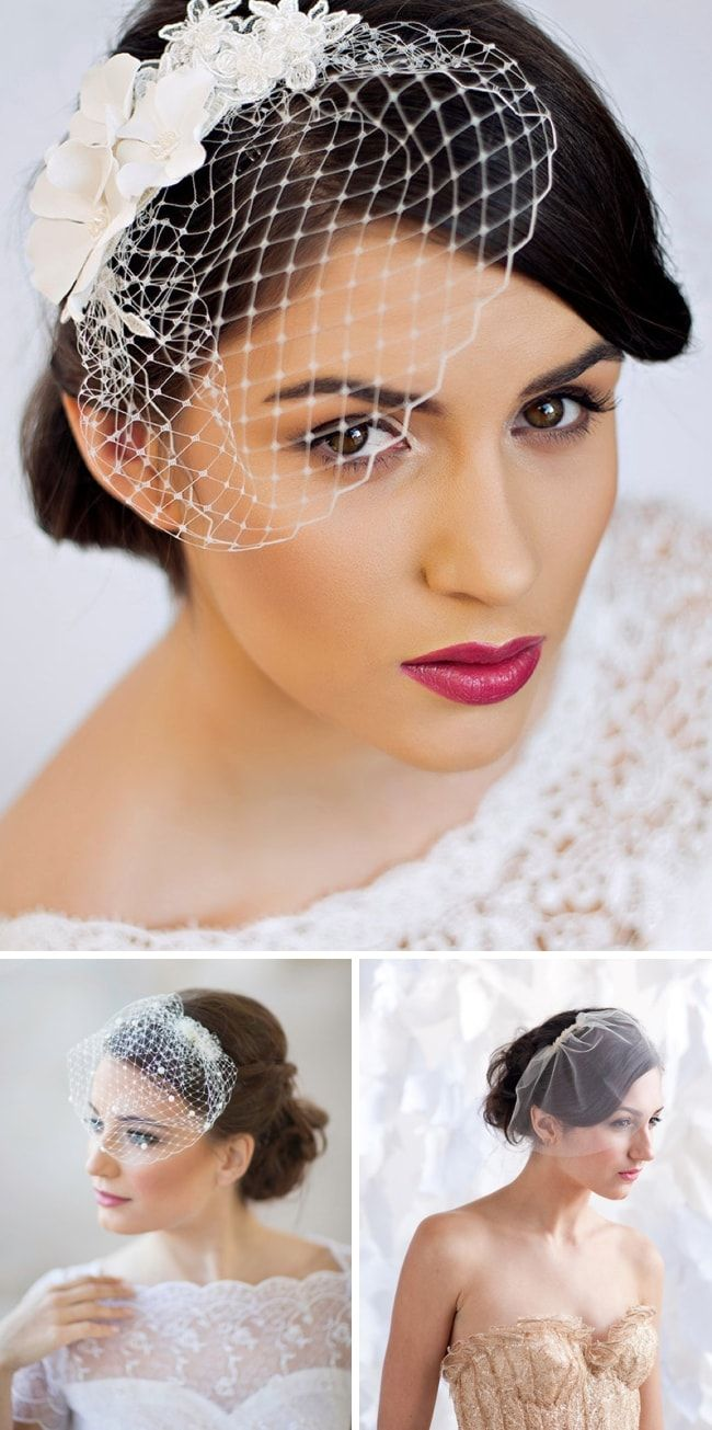 How to blusher wear birdcage veil