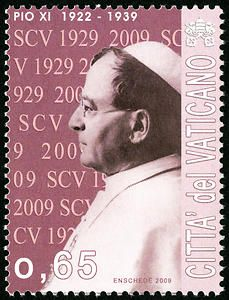65c Pius XI single Vatican postage stamp - Pope Pius XI served from 1922-1939