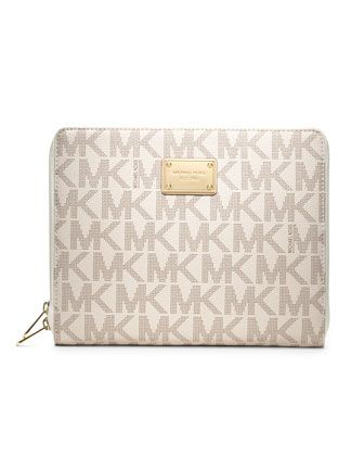 MICHAEL Michael Kors  Signature PVC iPad Case.  This is the perfect size. I have it LOVE IT