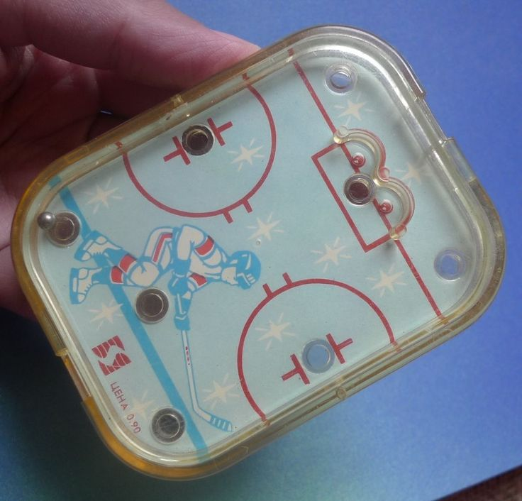 Vintage USSR Soviet Latvian STRAUME TOY POCKET HOCKEY GAME Bullet Goal Puzzle #Straume