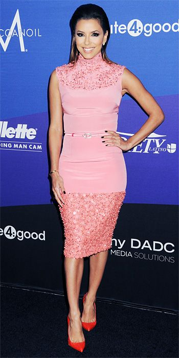 Look of the Day - March 1, 2014 - Eva Longoria Georges Hobeika from #InStyle