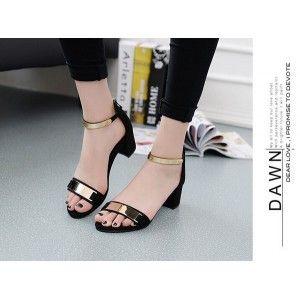 heels wanita US01 hitam