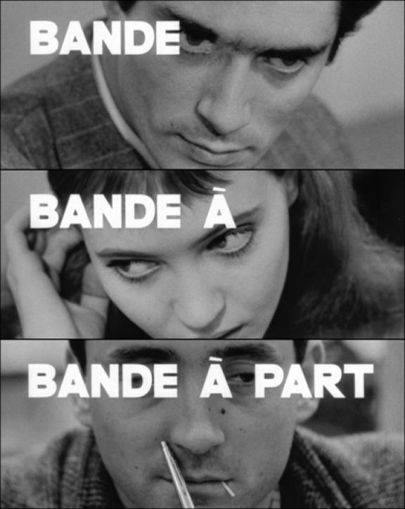 "This image is a promotional poster for Jean Luc Godard's 1964 film ""Bande a part""or Band of Outsiders. As a pioneer of the French New Wave movement in cinema, Godard saw himself as one of the only directors in his generation not afraid to take risks."