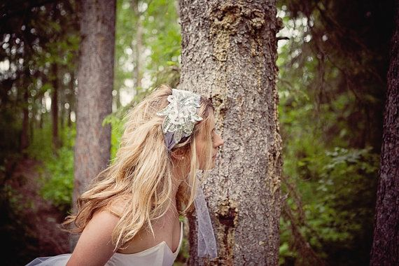 Art Deco Inspired Sequenced Head Wrap Veil by ChantillyLaceDesigns, $108.00