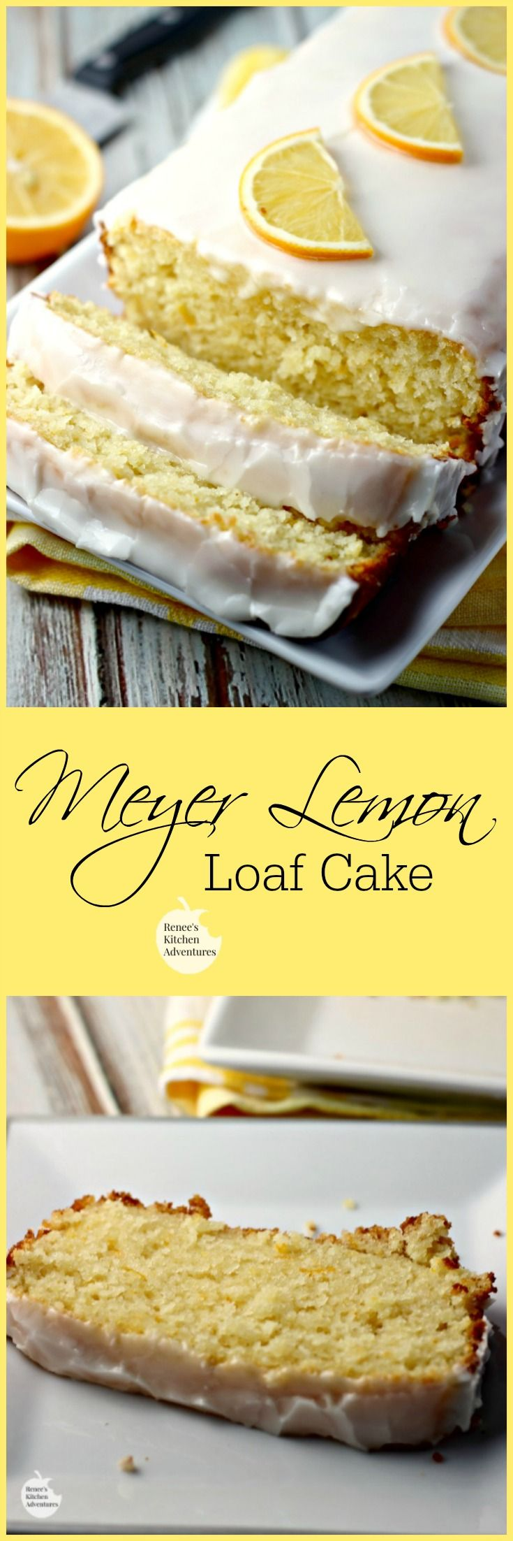 Meyer Lemon Loaf Cake | Renee's Kitchen Adventures:  Moist, lemony and absolutely wonderful.  One of the BEST lemon cake I have made!