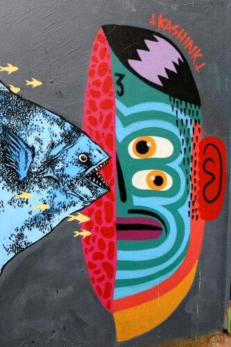 Kashink, bault - street art - paris 20, place Fréhel (juin 2013)