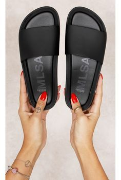 Melissa Beach Slide F Preto Fashion CLoset - fashioncloset