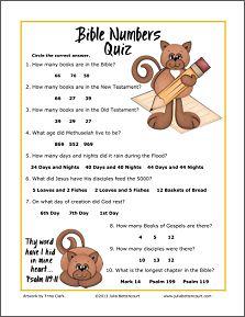 Bible Numbers Quiz