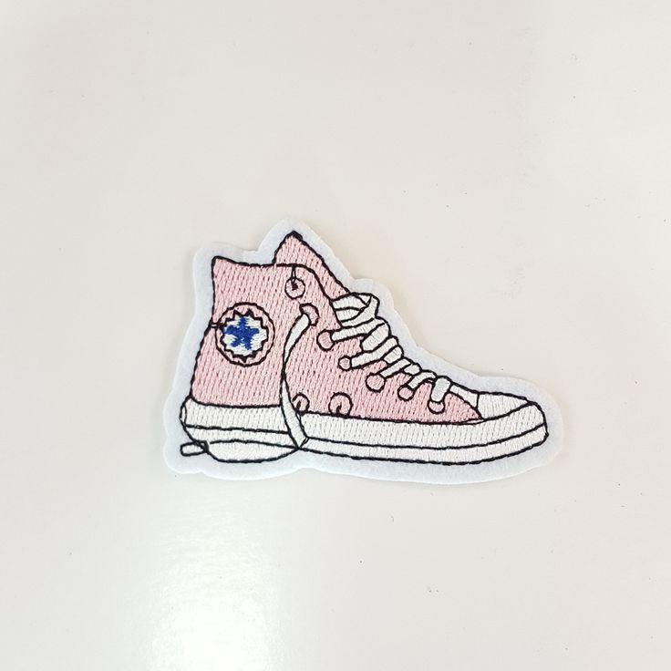 Cute Sneakers iron-on patch Use this patch on any apparel or accessories to make it unique! Patch Measures at 5 x 7 cm -*Shipped From Los Angeles CA*
