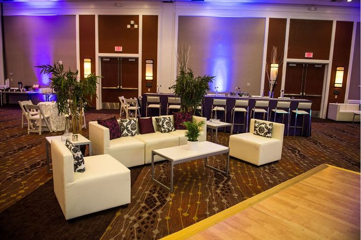 Add a little R & R to your next special event with lounges accented with fun print pillows